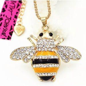 Betsey Johnson Bumblebee Necklace